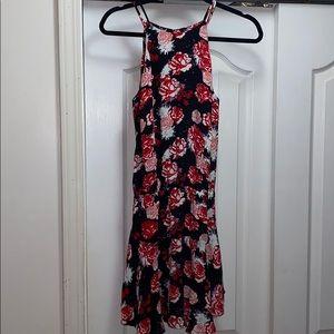 Karina Grimaldi halter dress with floral design
